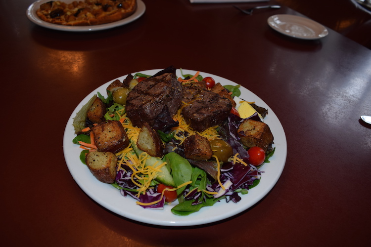 The Twin Petite Filets Salad with their homemade dressing was GREAT!