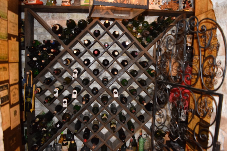 This is the original wine cellar that they outgrew on the day they opened.
