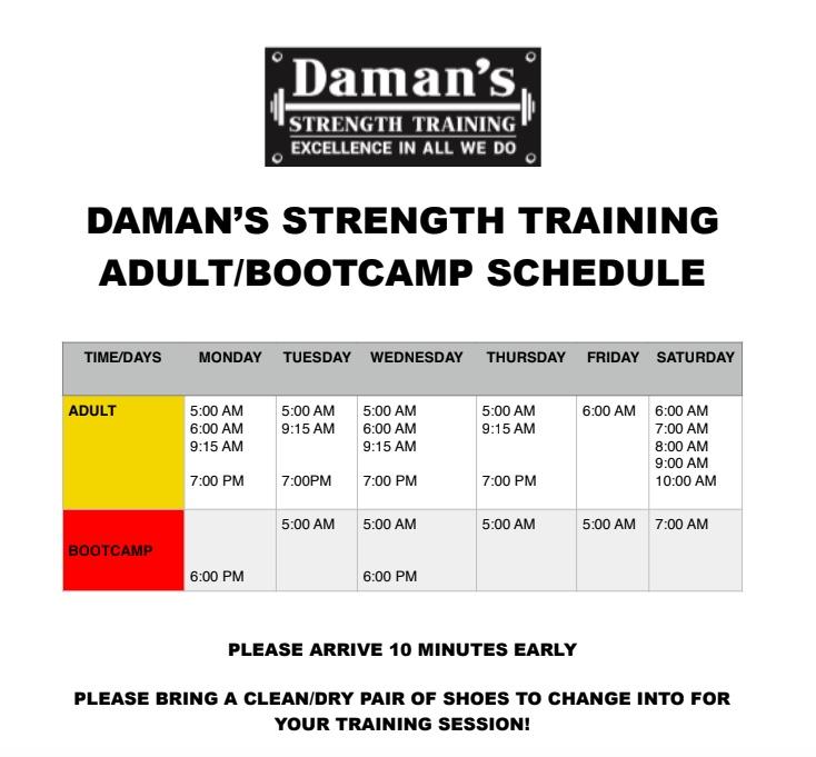 DST Schedule
