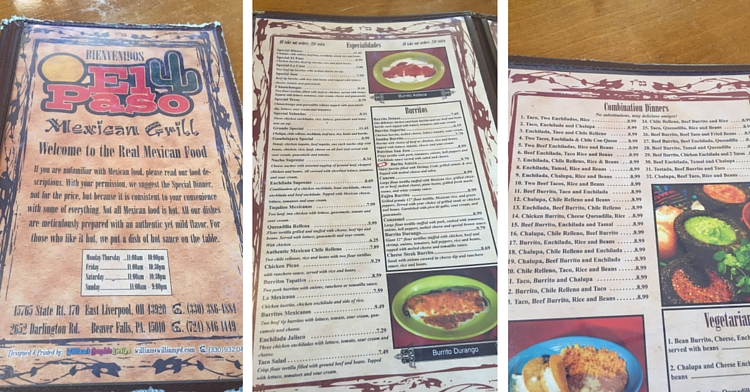 El Paso The Best Mexican Restaurant In Beaver County Your